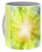 Bright Background Coffee Mug by Les Cunliffe