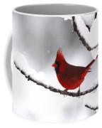 Bright In The Snow - Cardinal Coffee Mug