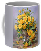 Bright Smile - Roses In A Silver Vase Coffee Mug