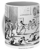 British Officers: Cartoon. English Cartoon Satire, 1777, On The Want Of Training Of British Officers To Prepare Them For The American War Coffee Mug