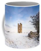 Broadway Tower In Winter Snow Coffee Mug