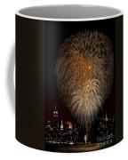 Brooklyn Bridge Celebrates Coffee Mug by Susan Candelario
