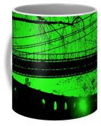Brooklyn Bridge In Green Coffee Mug