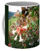 Brown And Yellow Butterfly Coffee Mug