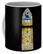 Brown Stained Glass Window Coffee Mug