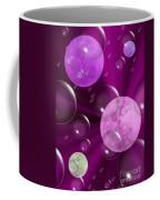 Bubbles And Moons - Purple Abstract Coffee Mug