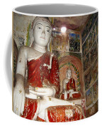 Buddha Image In Po Win Taung Caves. Coffee Mug