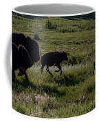 Buffalo Bison Roaming In Custer State Park Sd.-1 Coffee Mug