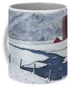 Buffalo River Valley In Snow Coffee Mug