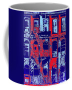 Building Facade In Blue And Red Coffee Mug