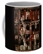 Building Facade In Brown And Red Coffee Mug