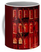 Building Facade In Red And White Coffee Mug