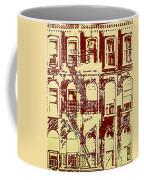 Building Facade Line Art Coffee Mug
