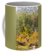 Bull Elk Lake Crusing With Autumn Colors Coffee Mug