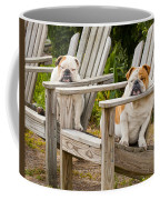 Bulldogs Relaxing At The Beach Coffee Mug