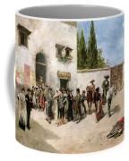 Bullfighters Preparing For The Fight  Coffee Mug