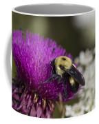 Bumble Bee And Bristle Thistle Coffee Mug