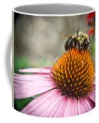 Bumble Bee Feeding On A Coneflower Coffee Mug