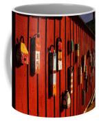 Rockport Buoy Wall - Greeting Card Coffee Mug
