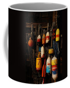 Buoys On Fishing Shack - Greeting Card Coffee Mug