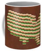 Burger Town Usa Map Brown Coffee Mug