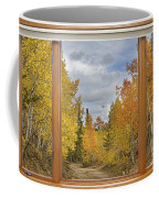 Burning Autumn Aspens Back Country Colorado Window View Coffee Mug