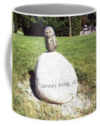 Burrowing Owl Meets Poetry Stones Of Crescent Beach Coffee Mug
