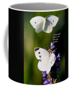 Butterflies - Cabbage White - Enjoyed The Togetherness Coffee Mug