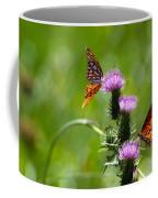 Butterflies On Thistles Coffee Mug