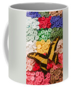 Butterfly And Buttons Coffee Mug