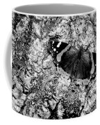 Butterfly Bark Black And White Coffee Mug