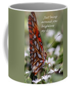 Butterfly Friendship Card Coffee Mug