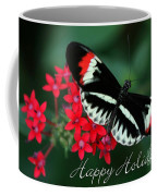 Butterfly Holiday Card Coffee Mug