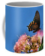 Butterfly On Mimosa Blossom Coffee Mug