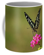 Butterfly On Pink Flower  Coffee Mug