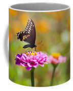 Butterfly On Pink Zinnia Coffee Mug