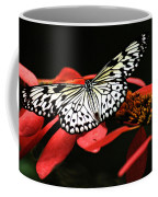 Butterfly On Red Coffee Mug