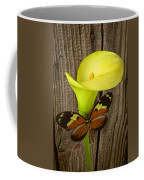 Butterfly With Calla Lily Coffee Mug