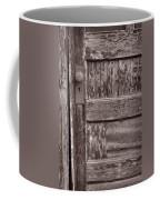 Cabin Door Bw Coffee Mug