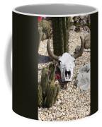 Cactus And Cow Skull Coffee Mug
