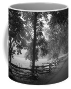 Cades Cove Tennessee In Black And White Coffee Mug