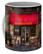 Cafe - Ny - Chelsea - Mappamondo  Coffee Mug by Mike Savad