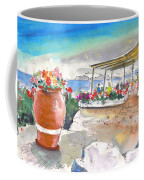 Cafe On Agios Georgios Beach Coffee Mug