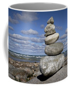 Cairn At North Point On Leelanau Peninsula In Michigan Coffee Mug