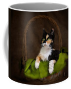 Calico Cat In Basket Coffee Mug