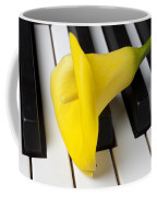 Calla Lily On Keyboard Coffee Mug