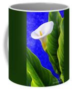 Calla Over Blue Coffee Mug
