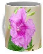 Candy Pink Morning Glory Flower Coffee Mug