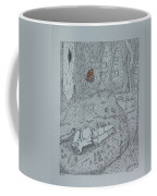 Canine Skull And Butterfly Coffee Mug
