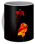 Canna Lilies On Black Coffee Mug